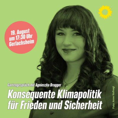 Agniezka Brugger, Plakat zum Vortrag